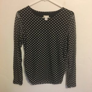 Chico's poke a dotted blouse